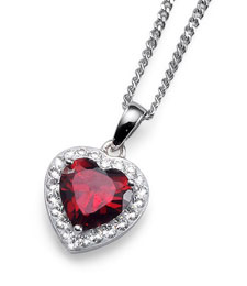 Oliver Weber Red Heart Pendant